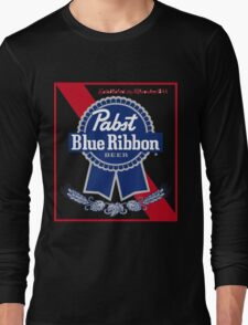 Pabst Blue Ribbon Beer PBR  Long Sleeve T-Shirt