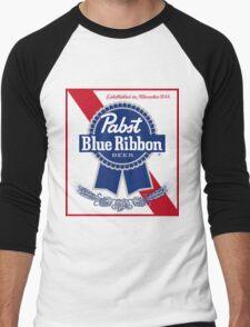 Pabst Blue Ribbon Beer PBR  Men's Baseball ¾ T-Shirt