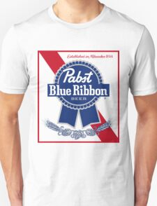Pabst Blue Ribbon Beer PBR  Unisex T-Shirt