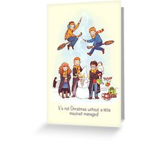 Mischievous Magical Merriment Greeting Card