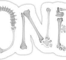 Bones Typography T Shirt Sticker