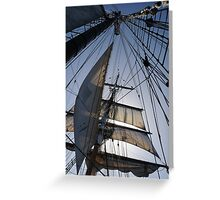 Lines, sheets, spars Greeting Card