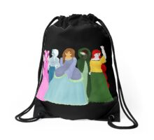 Alice In Monster Apartments Page One Drawstring Bag