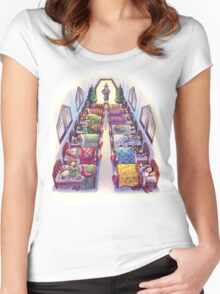 Twas the night before Christmas, when all through Erebor... Women's Fitted Scoop T-Shirt