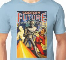 Retro Vintage CAPTAIN FUTURE NO. 1 PULP MAGAZINE ART Unisex T-Shirt