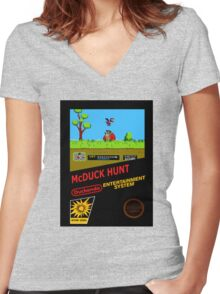 McDuck HUNT Women's Fitted V-Neck T-Shirt