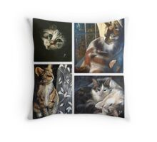 Cats in Every Corner Throw Pillow