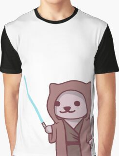 Neko atsume - Jedi cat Graphic T-Shirt