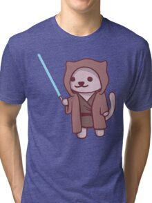 Neko atsume - Jedi cat Tri-blend T-Shirt