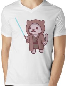 Neko atsume - Jedi cat Mens V-Neck T-Shirt