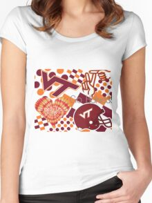 Virginia Tech Collage  Women's Fitted Scoop T-Shirt