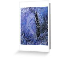 The Black Feather Greeting Card