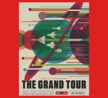 Grand Tour Space Travel Poster One Piece - Short Sleeve