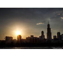 Chicago Skyline - Sunset Photographic Print
