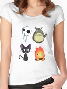 fushion ghibli Women's Fitted Scoop T-Shirt