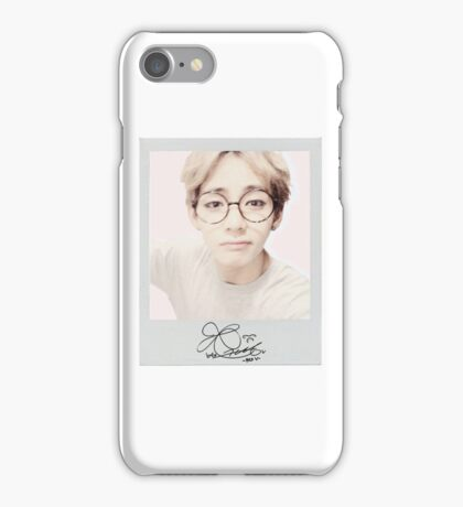 BTS - V Polaroid w/ Signature iPhone Case iPhone Case/Skin