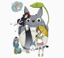 fammili collage ghibli One Piece - Short Sleeve