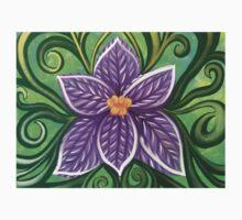 Purple Crocus Flower Baby Tee