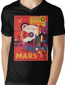 Mars Travel Poster - NASA JPL Mens V-Neck T-Shirt