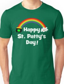 Happy St Patty's Day Rainbow Unisex T-Shirt