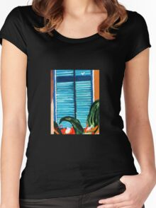 The Bathroom Window.......... Women's Fitted Scoop T-Shirt