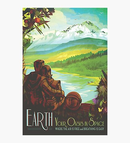 Earth Space Travel Poster Photographic Print