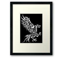 White Hawk Framed Print