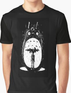 raining umbrela totoro Graphic T-Shirt