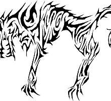 Tribal Dire Wolf by Mark Kerr