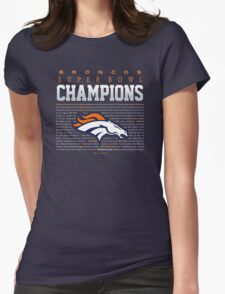 Broncos champions SUMMARY 2 Womens Fitted T-Shirt