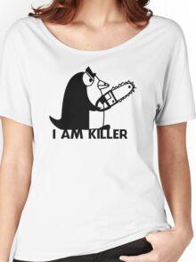 Killer Penguin Funny Man Tshirt Women's Relaxed Fit T-Shirt