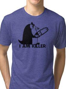 Killer Penguin Funny Man Tshirt Tri-blend T-Shirt