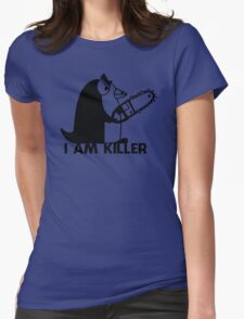 Killer Penguin Funny Man Tshirt Womens Fitted T-Shirt