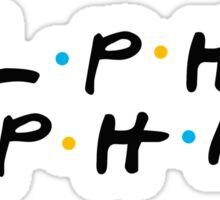 alpha phi friends Sticker