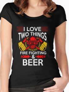Firefighter Beer Women's Fitted Scoop T-Shirt