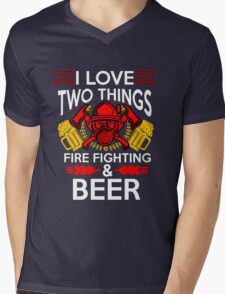 Firefighter Beer Mens V-Neck T-Shirt