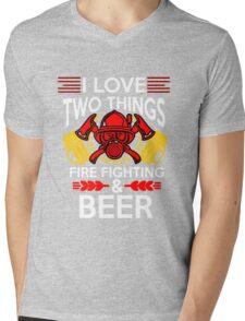 Firefighter Beer Mens V-Neck T-Shirt