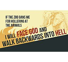 tweets by @dril - Zoo Photographic Print