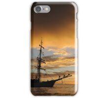 Last light on tall ship iPhone Case/Skin