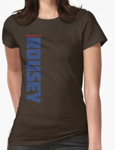 Ronda Rousey Blue and Red Womens Fitted T-Shirt