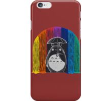 totoro rainbow rain iPhone Case/Skin