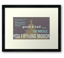 tweets by @dril - Wise Man Framed Print
