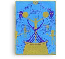 Octopus Aliens & Robots Canvas Print