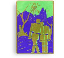 Robots in Love Canvas Print