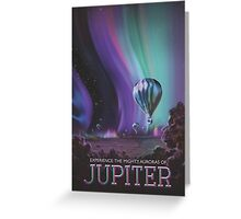 Jupiter Travel Poster - Might Auroras Greeting Card