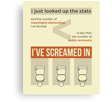 tweets by @dril - Restroom Canvas Print