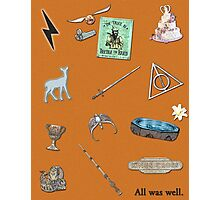Harry Potter and the Deathly Hallows inspired poster Photographic Print