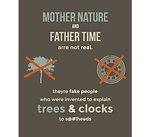 tweets by @dril - Trees & Clocks Photographic Print