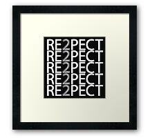 Respect Derek Jeter Framed Print