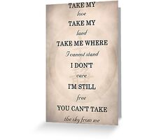 Firefly - Ballad of Serenity Greeting Card